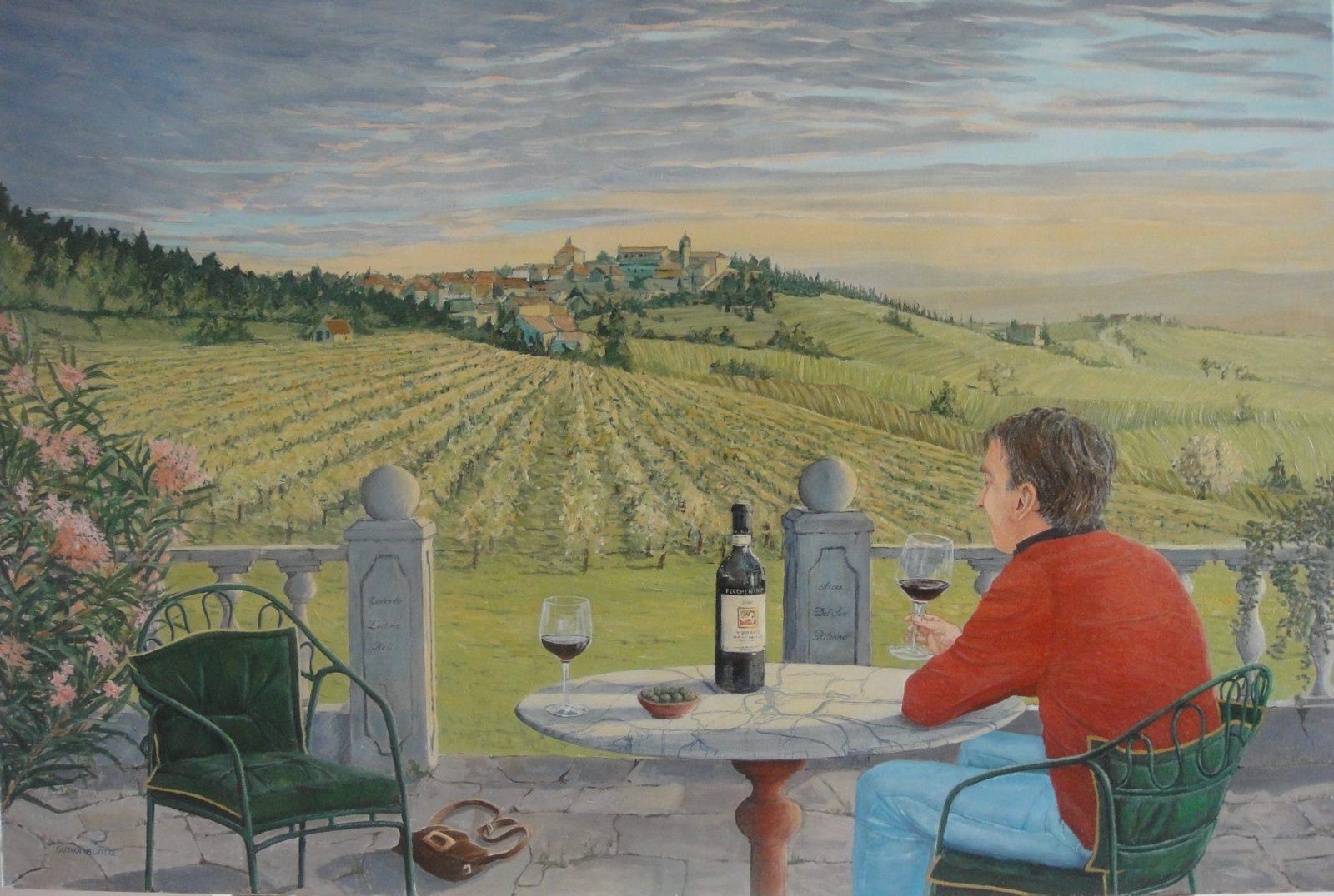 Nils Bugge, acrylic on linen, 120 x 80