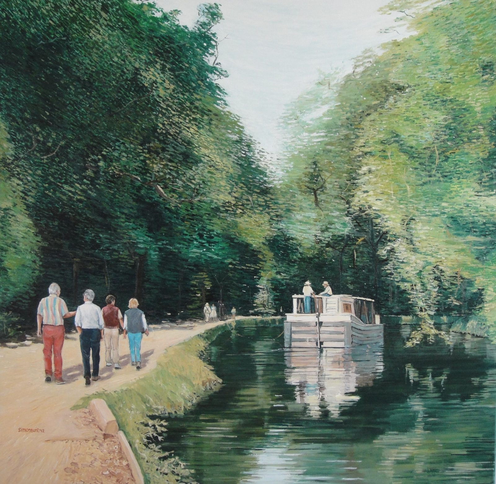 c&o canal Washington DC acrylic on linen 100x1007